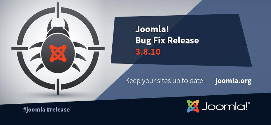 Joomla 3.8.10 Announcement